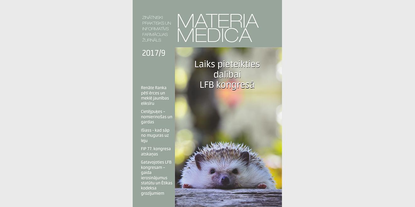 """Jaunajā """"Materia Medica"""" – par gaidāmo LFB kongresu un jaunumiem pasaulē"""