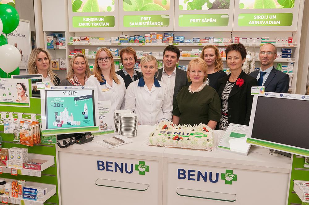 Darbu sākusi pirmā BENU franšīzes aptieka Latvijā*