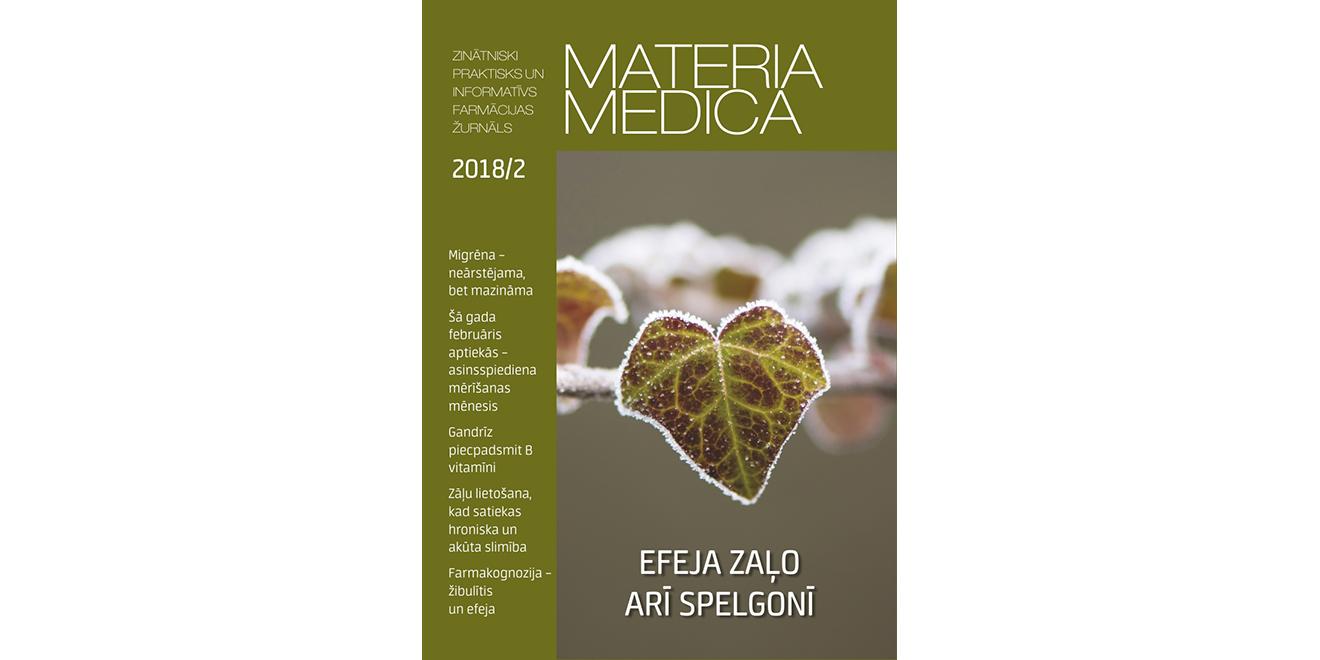 """Jaunajā """"Materia Medica"""" – par zāļu lietošanu akūtām slimībām un farmaceita konsultāciju diabēta slimniekiem"""