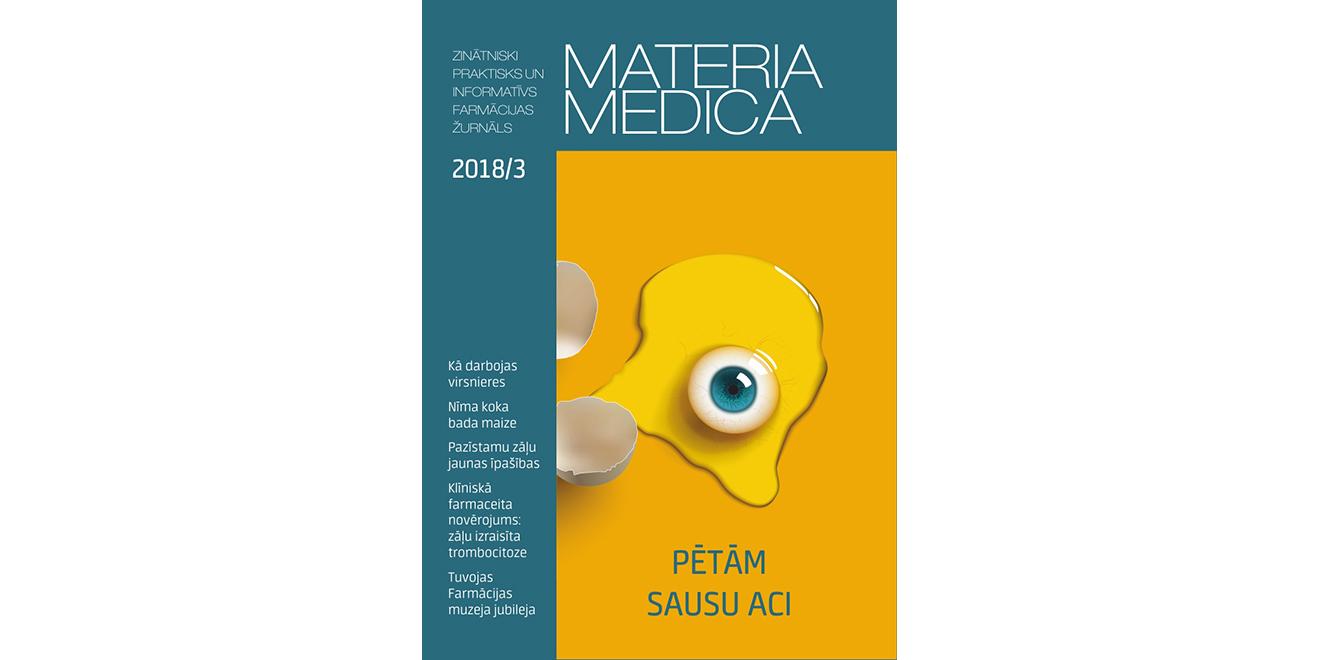 """Marta """"Materia Medica"""" lasiet par sausu aci, virsnieru darbību, klīnisko farmaceitu darba pieredzi"""