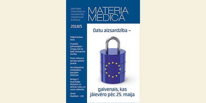 """Jaunajā """"Materia Medica"""" – par Vispārīgās datu aizsardzības regulas ieviešanu farmācijas nozarē"""