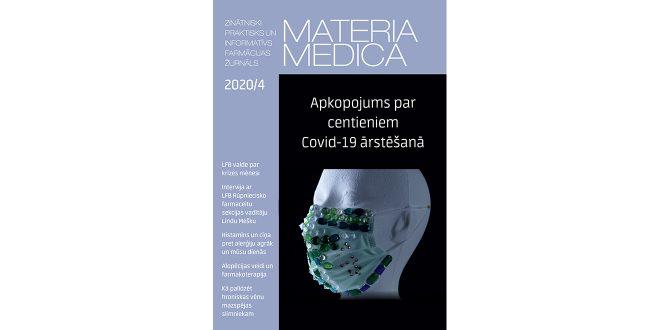 """Jaunajā """"Materia Medica"""" numurā – plašs materiāls par Covid-19 ārstēšanas iespējām un izaicinājumiem"""