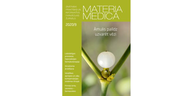 """Septembra """"Materia Medica"""" piedāvā jaunāko farmācijā"""