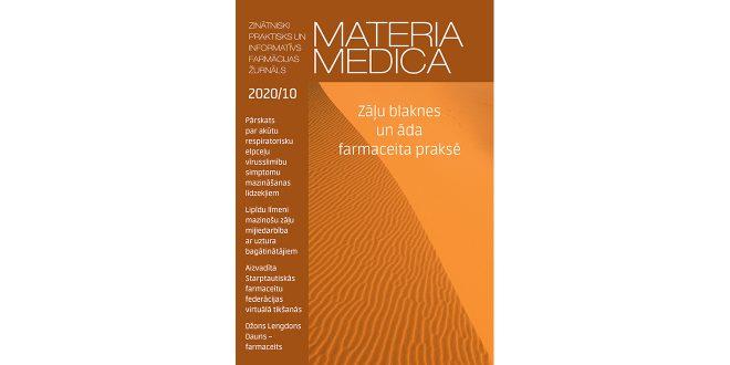 """Oktobra """"Materia Medica"""" – par ārstu un farmaceitu sadarbību un notikumiem pasaulē"""
