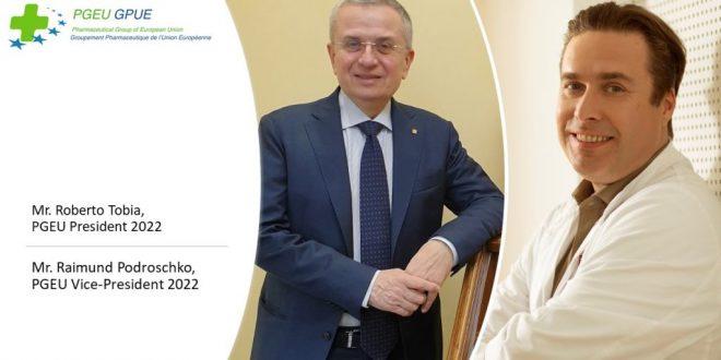 Eiropas farmaceiti par PGEU prezidentu 2022. gadam ievēl Roberto Tobiu