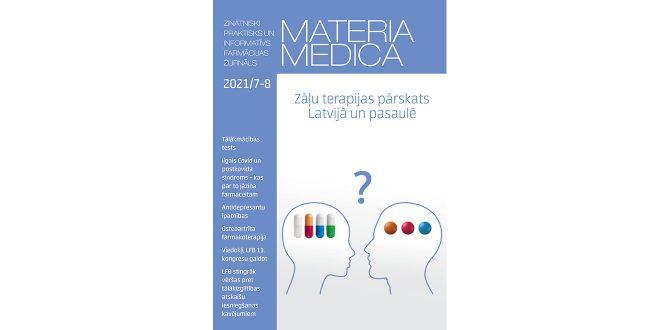 """Jaunajā """"Materia Medica"""" numurā – par ilgstošo Covid-19, LFB kongresu un epidemioloģiskajām prasībām darba vietā"""